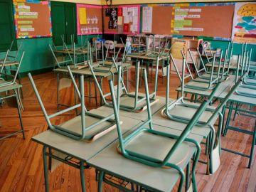 Imagen de archivo: Un aula vacía en un centro educativo