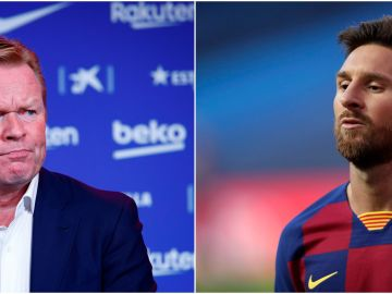 Ronald Koeman y Leo Messi