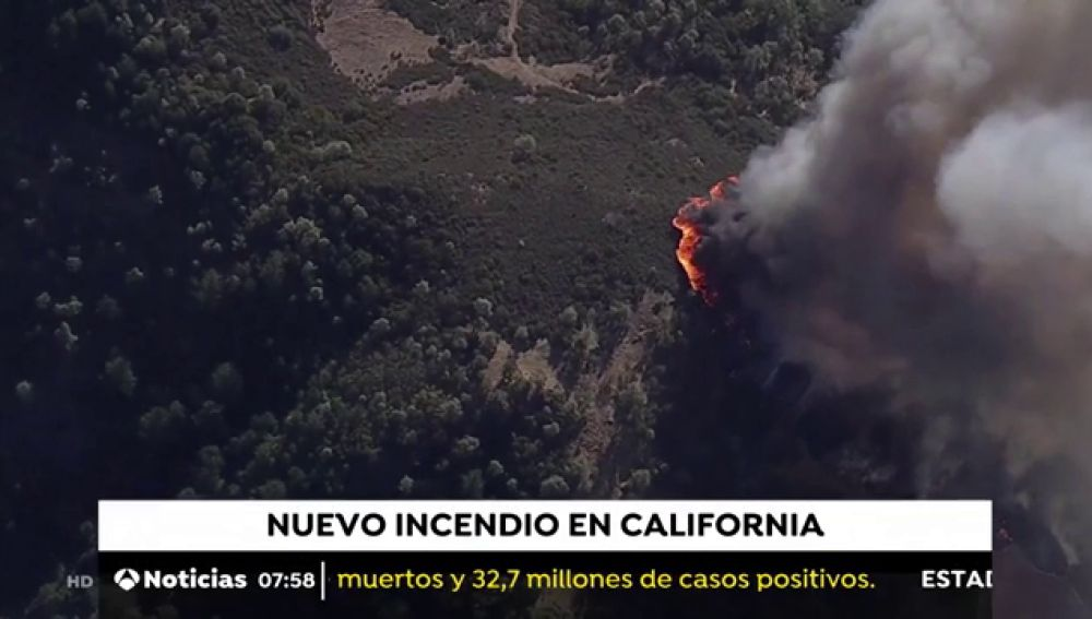Nuevo y peligroso incendio declarado en el norte de California