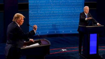 Trump y Biden en un momento del segundo debate