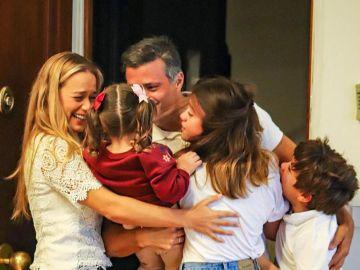 La foto de Leopoldo López con su familia en Madrid