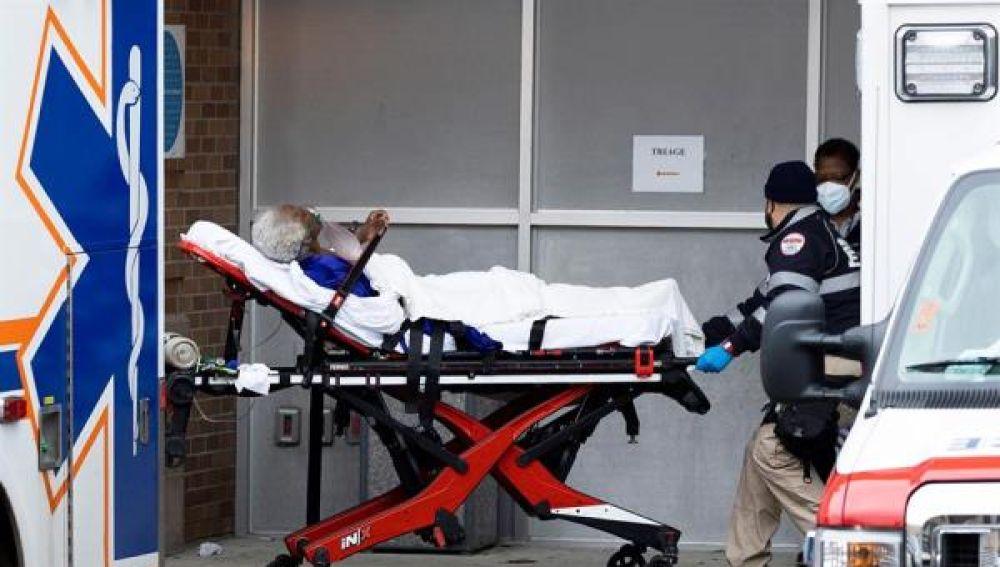 Un paciente ingresa en un hospital de EEUU