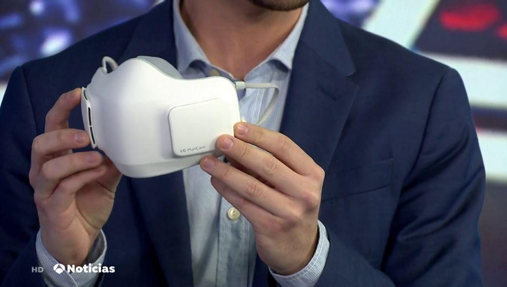 Presentan una mascarilla eléctrica capaz de renovar el aire constantemente