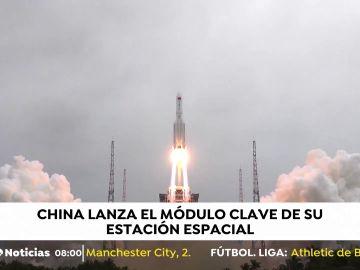 China lanza el módulo clave de su estación espacial