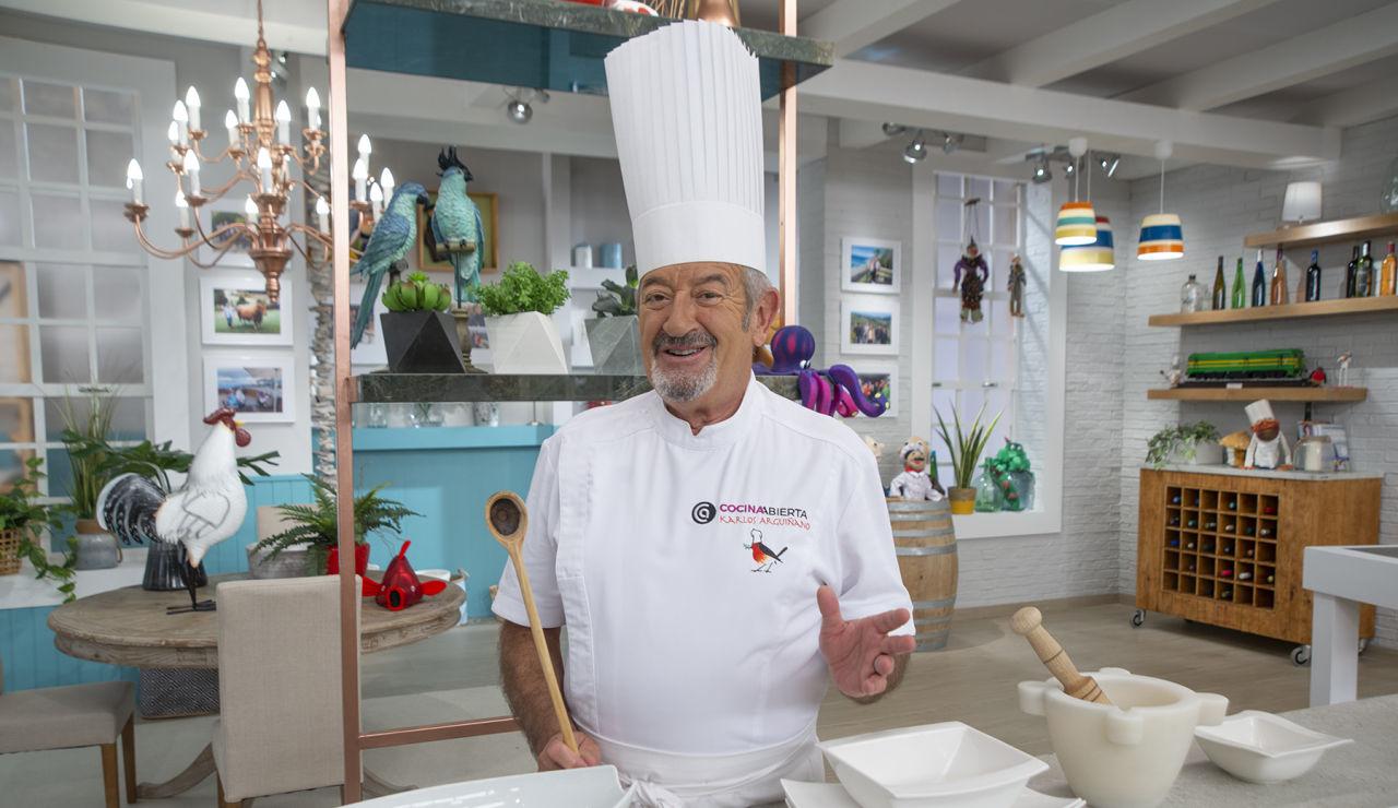 Karlos Arguiñano nos muestra el nuevo plató del programa