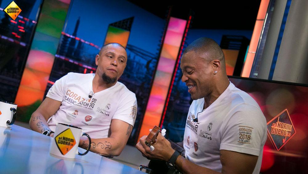Roberto Carlos y Julio Baptista improvisan una canción brasileña en directo en 'El Hormiguero 3.0'