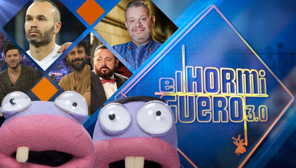 Alberto Chicote, Andrés Iniesta, Hugo Silva y Pepón Nieto y Pablo López se divertirán la próxima semana en 'El Hormiguero 3.0'