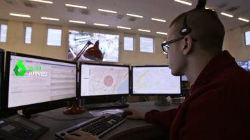"""Enviado especial conoce 'la nación digital': """"Cualquier ciudadano que llama a Emergencias le detectamos automáticamente en el mapa"""""""