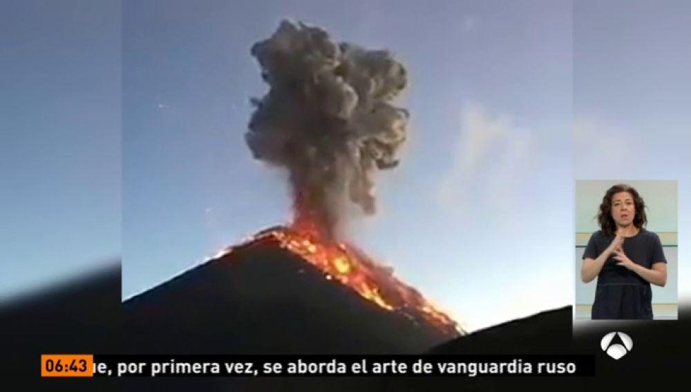 <p>La erupción del volcán de Fuego y la guerra comercial con EEUU</p>