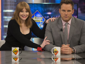 Chris Pratt y Bryce Dallas Howard en 'El Hormiguero 3.0'