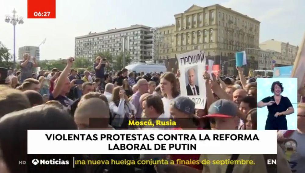 El presidente de Moldavia, herido tras un accidente de tráfico y violentas protestas en Moscú