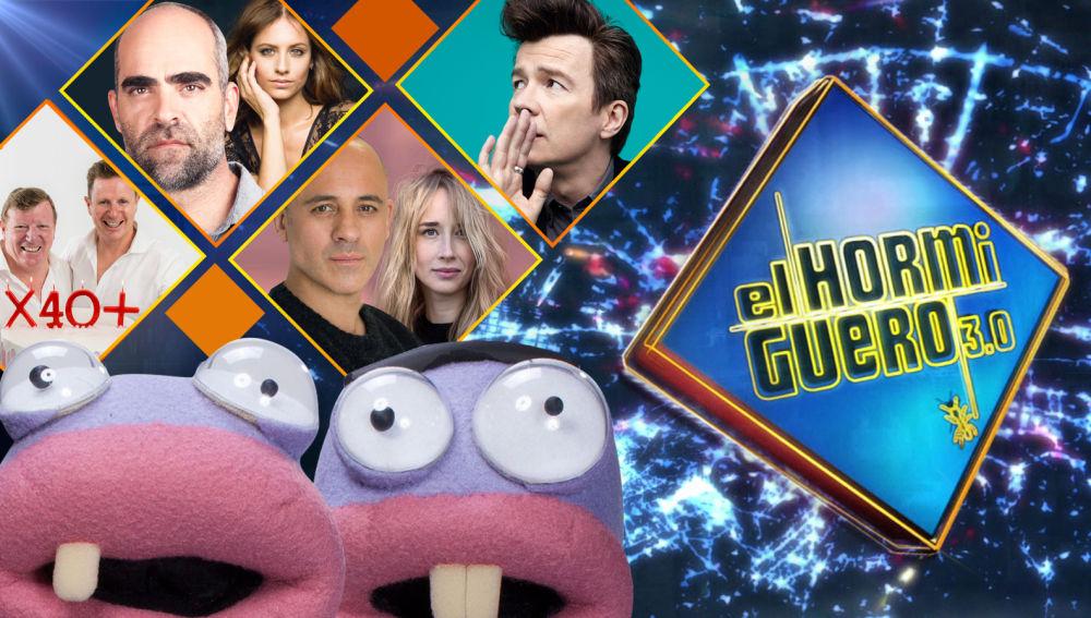 La próxima semana estarán en 'El Hormiguero 3.0' Los Morancos, Luis Tosar, Michelle Jenner, Javier Gutiérrez, Ingrid García Jonsson y Rick Astley