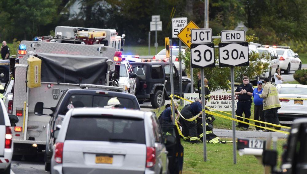 Imagen del accidente en Nueva York
