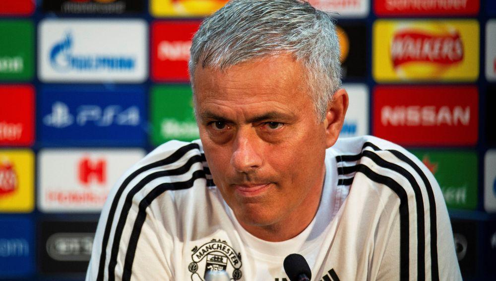 José Mourinho, en rueda de prensa