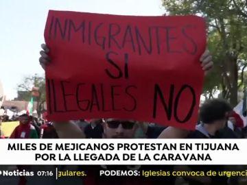 Aumenta la tensión en Tijuana debido a la 'caravana de la miseria'