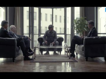 Manuel Pimentel, José Manuel García-Margallo y Xavier García Albiol hablan con Jordi Évole en Salvados