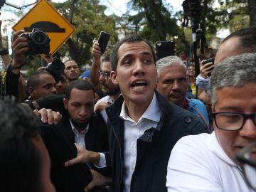 El autoproclamado presidente interino del país, Juan Guaidó