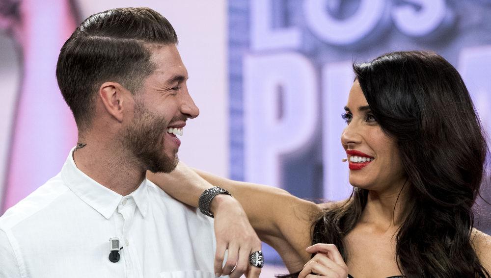 Sergio Ramos y Pilar Rubio durante El Hormiguero