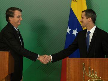 Bolsonaro y Guaidó