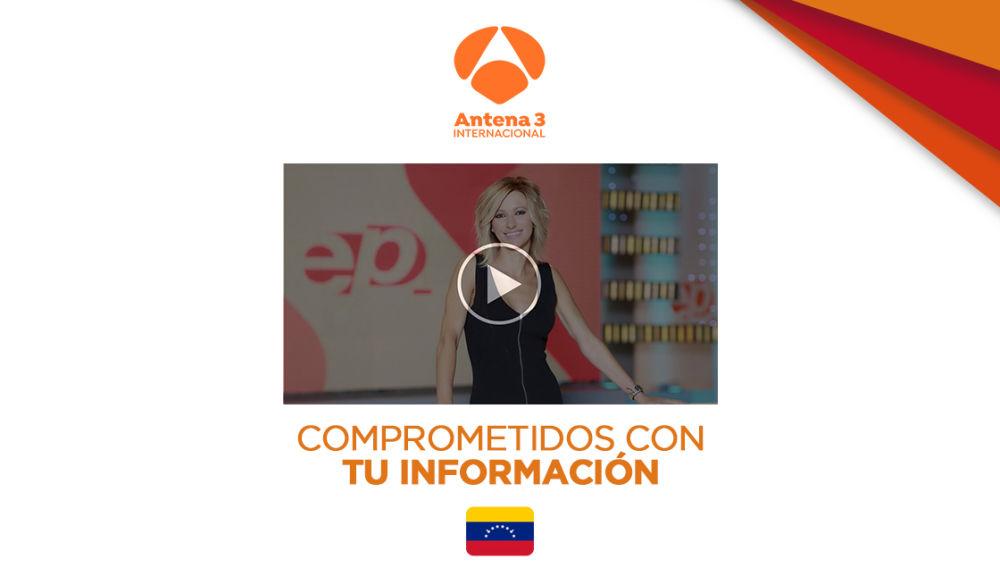 Emisión especial de Antena 3 Internacional en Venezuela