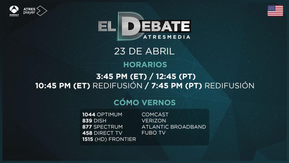 'El Debate' de Atresmedia, en Antena 3 Internacional