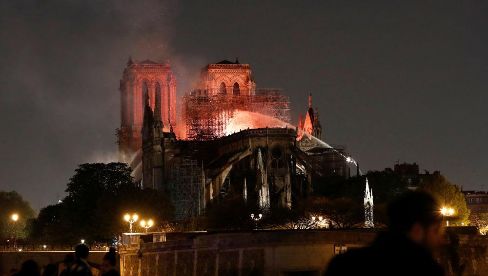El incendio de la catedral de Notre-Dame