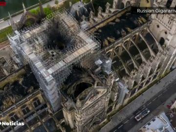 Las fotografías aéreas que muestran las zonas afectadas de la Catedral de Notre Dame
