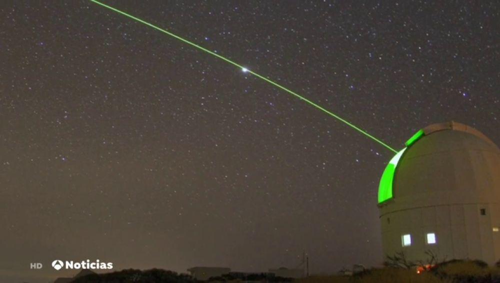 Con un láser Canarias consigue eliminar los millones de basura que orbitan alrededor de la Tierra