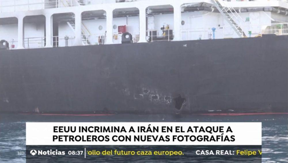 EEUU culpa con nuevas fotografías a Irán de los ataques a los petroleros
