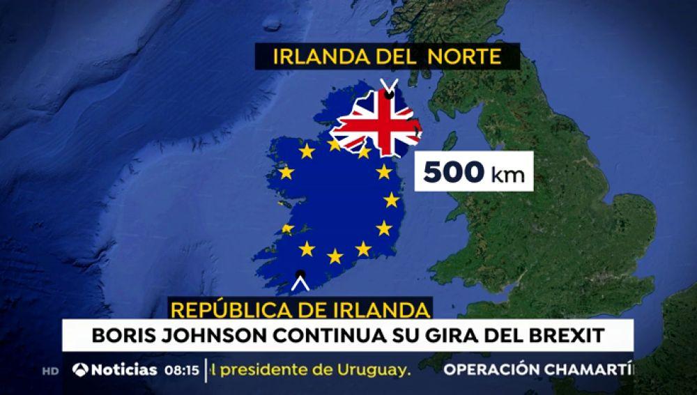 Irlanda del norte en desacuerdo con Boris Johnson