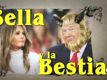 'La Bella y la Bestia', con Melania y Donald Trump