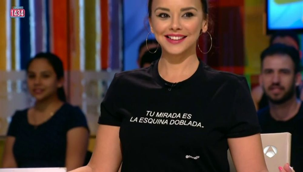 El mensaje de la camiseta de Chenoa que ha descolocado a Frank Blanco