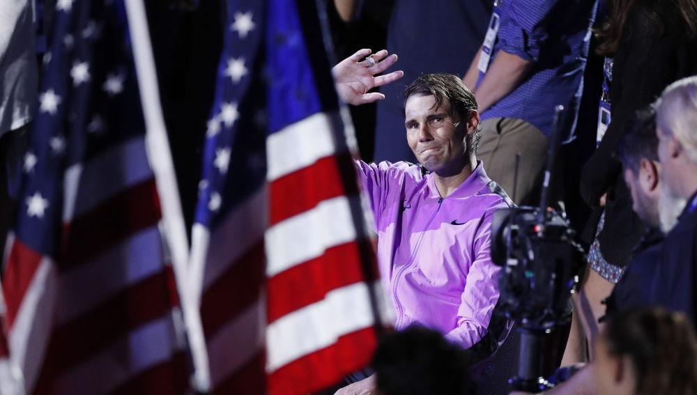 Rafa Nadal, emocionado tras ganar el US Open