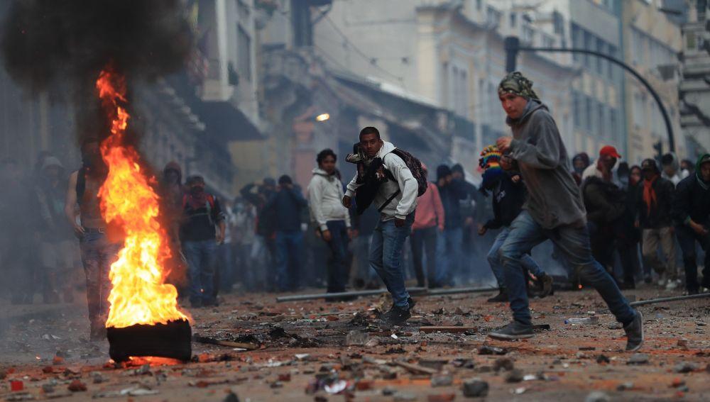 Protestas contra las medidas económicas del Gobierno de Ecuador