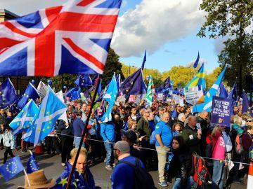 Manifestación para pedir un segundo referéndum del Brexit