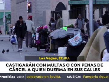 El Ayuntamiento de Las Vegas prohíbe acampar y dormir en sus calles