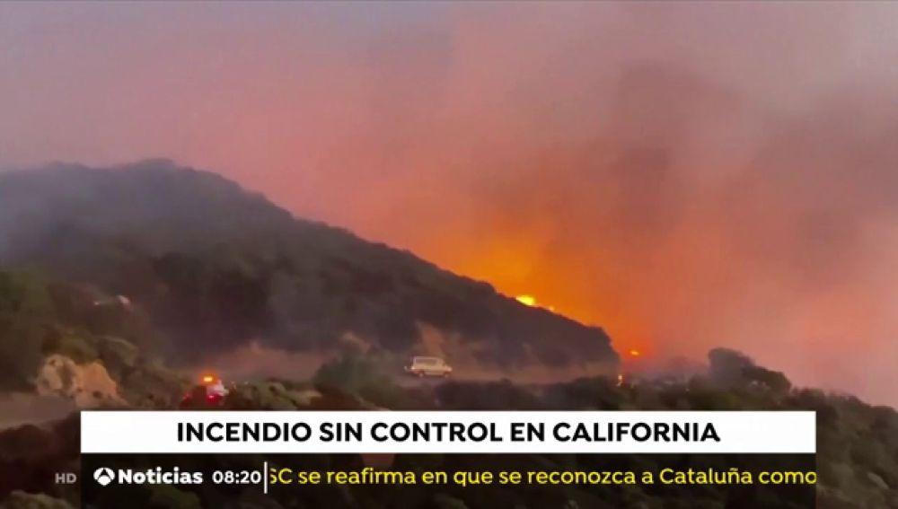 Un incendio en California avanza sin control por el Bosque Nacional Los Padres