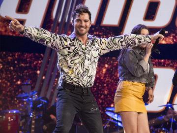 David Bisbal canta con su equipo en la segunda Semifinal de 'La Voz Kids'