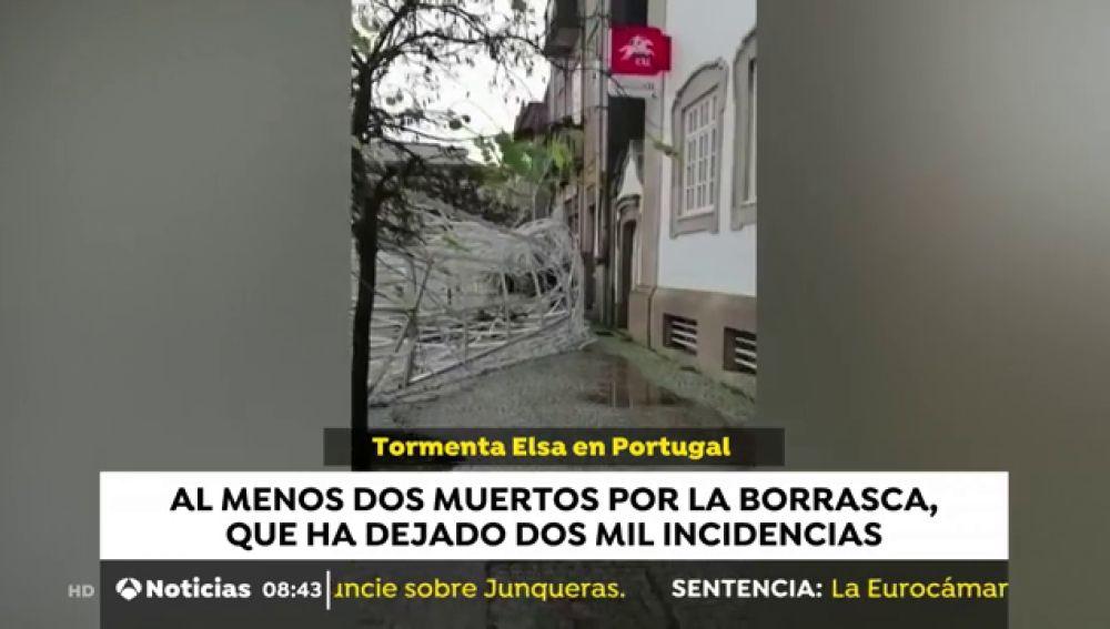La borrasca Elsa deja al menos dos muertos e importantes destrozos en Portugal