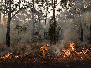 Imagen de uno de los incendios de Australia