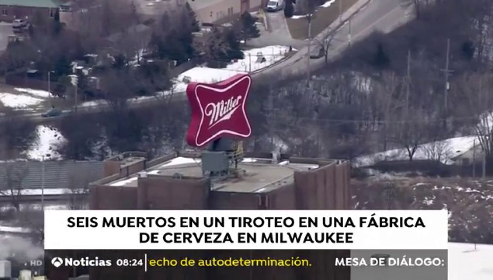 Al menos cinco muertos tras un tiroteo en una fábrica de cerveza en Milwaukee