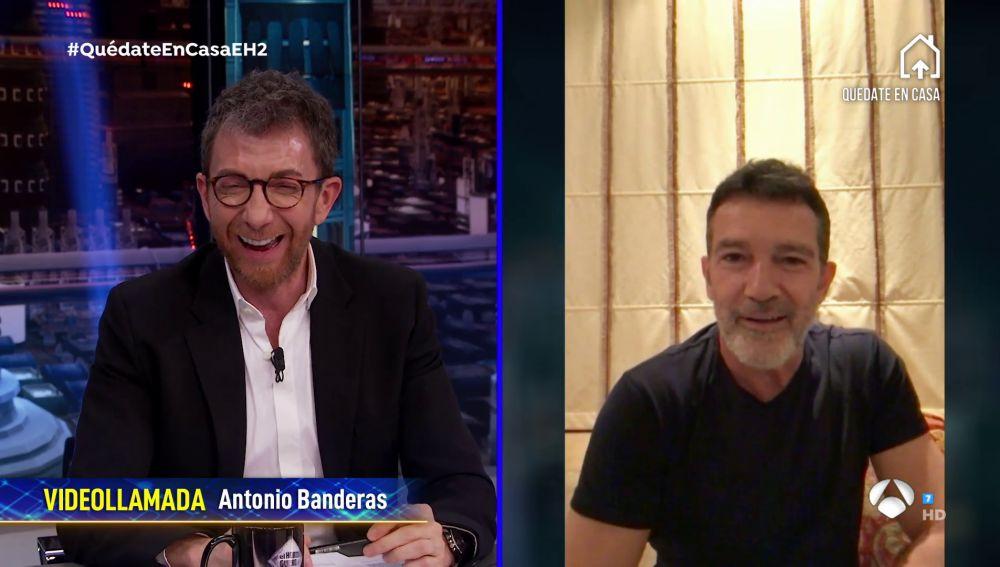 Antonio Banderas, Sergio Ramos y Pilar Rubio