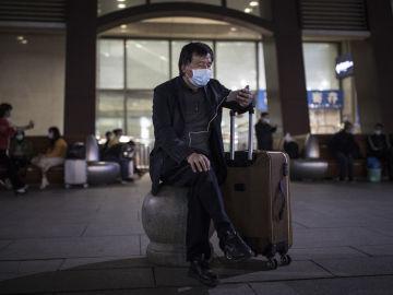 Ciudadano en Wuhan