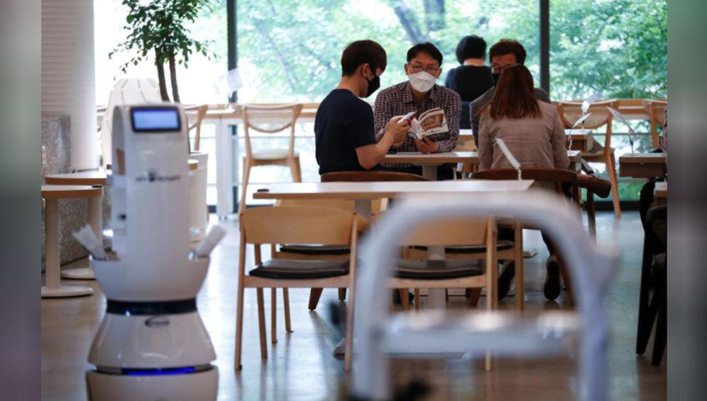 Robot barista en Corea del Sur