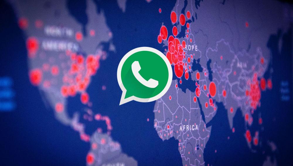 WhatsApp y mapa COVID-19
