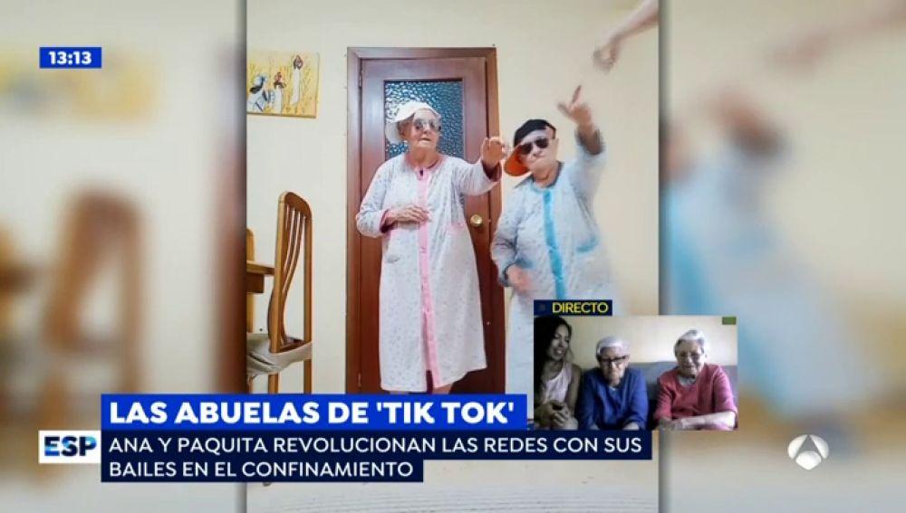 Las abuelas más marchosas del 'Tik tok', en 'Espejo Público'