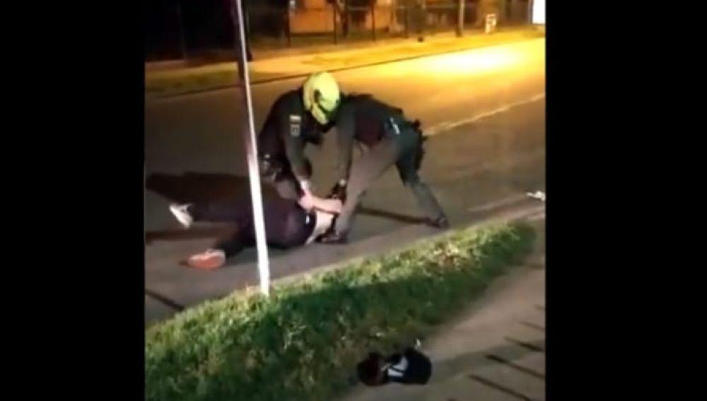 Captura del vídeo de la agonía de Javier Ordoñez