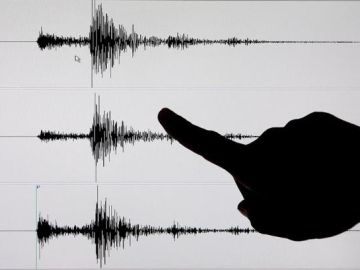 Imagen de archivo de un terremoto en un sismógrafo