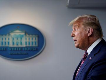 Donald Trump durante una comparecencia en la Casa Blanca