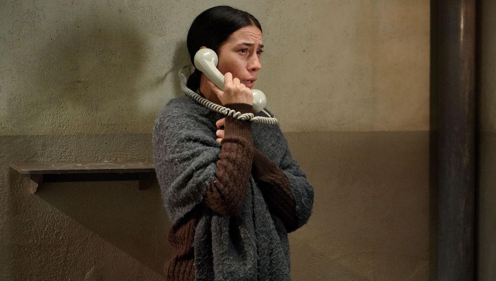 Manolita, hace una llamada de auxilio desde la cárcel